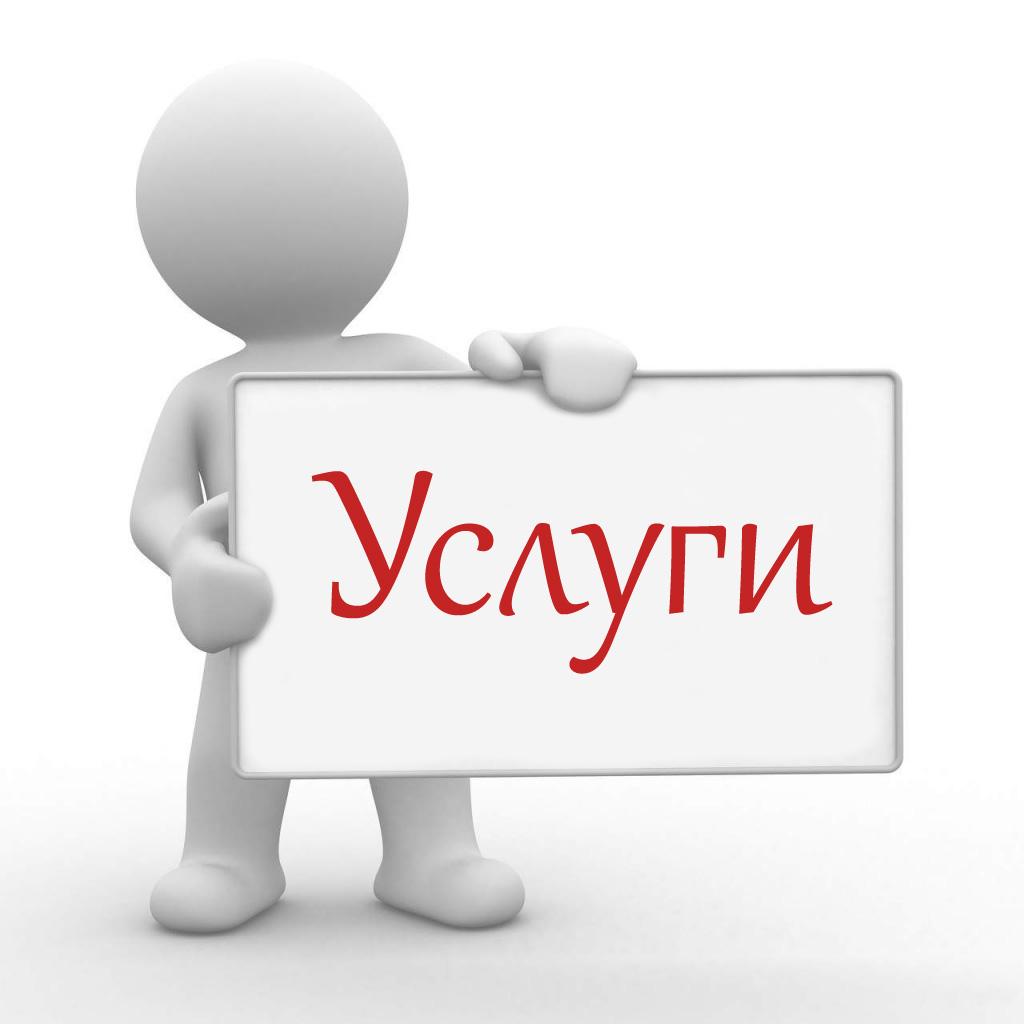 услуги по или услуги в: